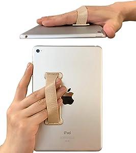 WUOJI Hand Strap Holder Finger Grip for Tablets -Universal Tablet Hand Strap Holder-Compatible with iPad Air/iPad Pro 9.7Inch / Tab 10.1Inch / Tab 4 10.1Inch / Tab Pro 10.1Inch / Tab S 10.5 (Gold)