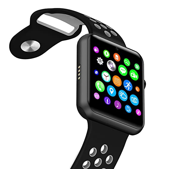 Amazon.com: ⌚ LEMFO LF07 Plus Smart Watch (Black and White): Cell Phones & Accessories