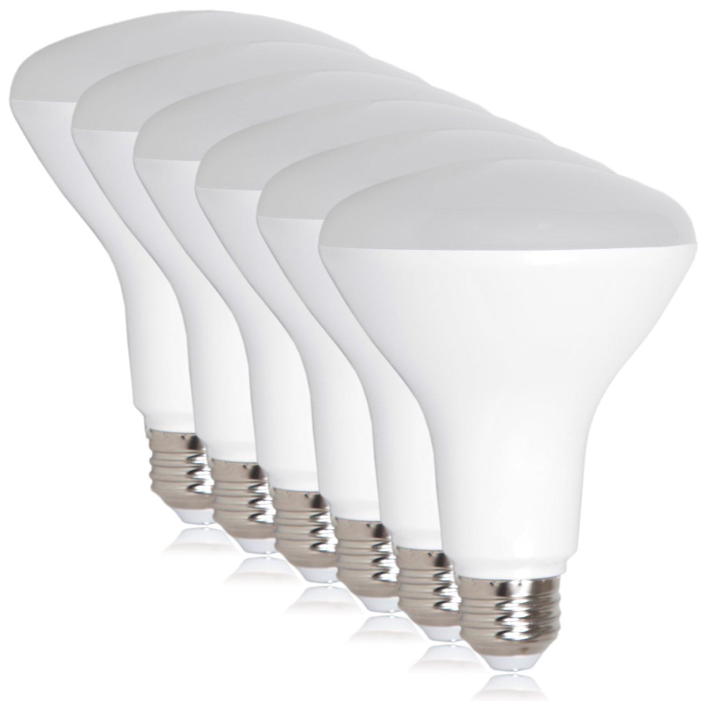 Maxxima LED BR30 65 Watt Equivalent Dimmable 8 Watt Light Bulb Warm White 720 Lumens Energy Star, 3000K (Pack of 6)