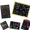 Bundle Monster 3pc 6mm Tip Liquid Chalk Marker With 112 Black Adhesive Labels