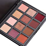 DONGXIUB Smoky Eyes 12 Warm Color Eyeshadow Palette Shimmer Matte Vegan Eye Shadow Makeup Set