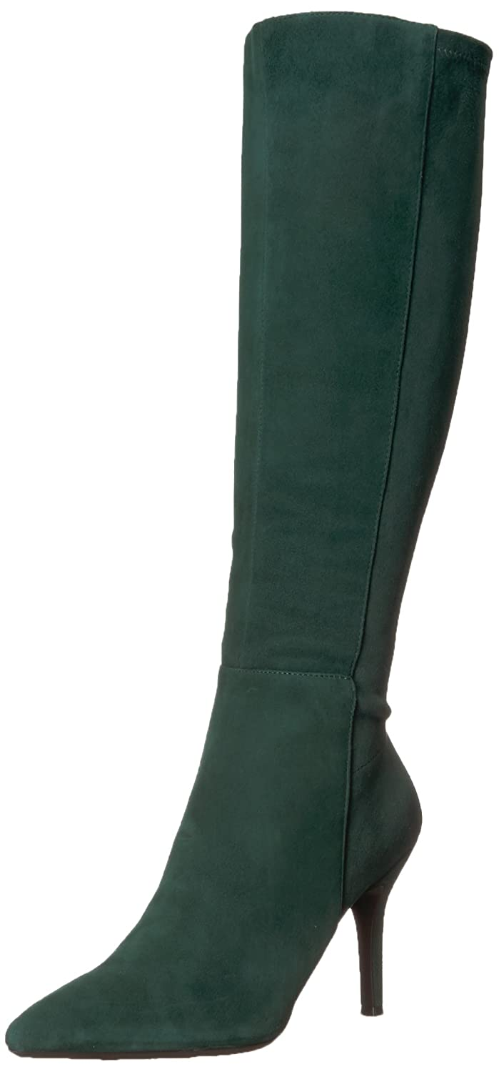 Nine West Women's Fallon B06Y3RRMJ8 10 B(M) US|Dark Green Suede