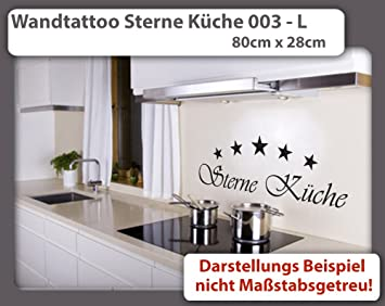Wandtattoo Sterne Kuche 003 Grosse L 80cm X 28cm 24 Mogliche