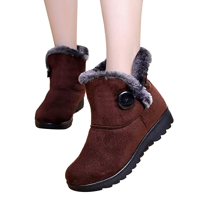 JiaMeng Zapatos de mujer Viernes Negro Otoño Invierno Botas Invierno Tobillo Navidad Botas Cortas de Nieve Calzado de Piel Zapatos cálidos: Amazon.es: Ropa ...