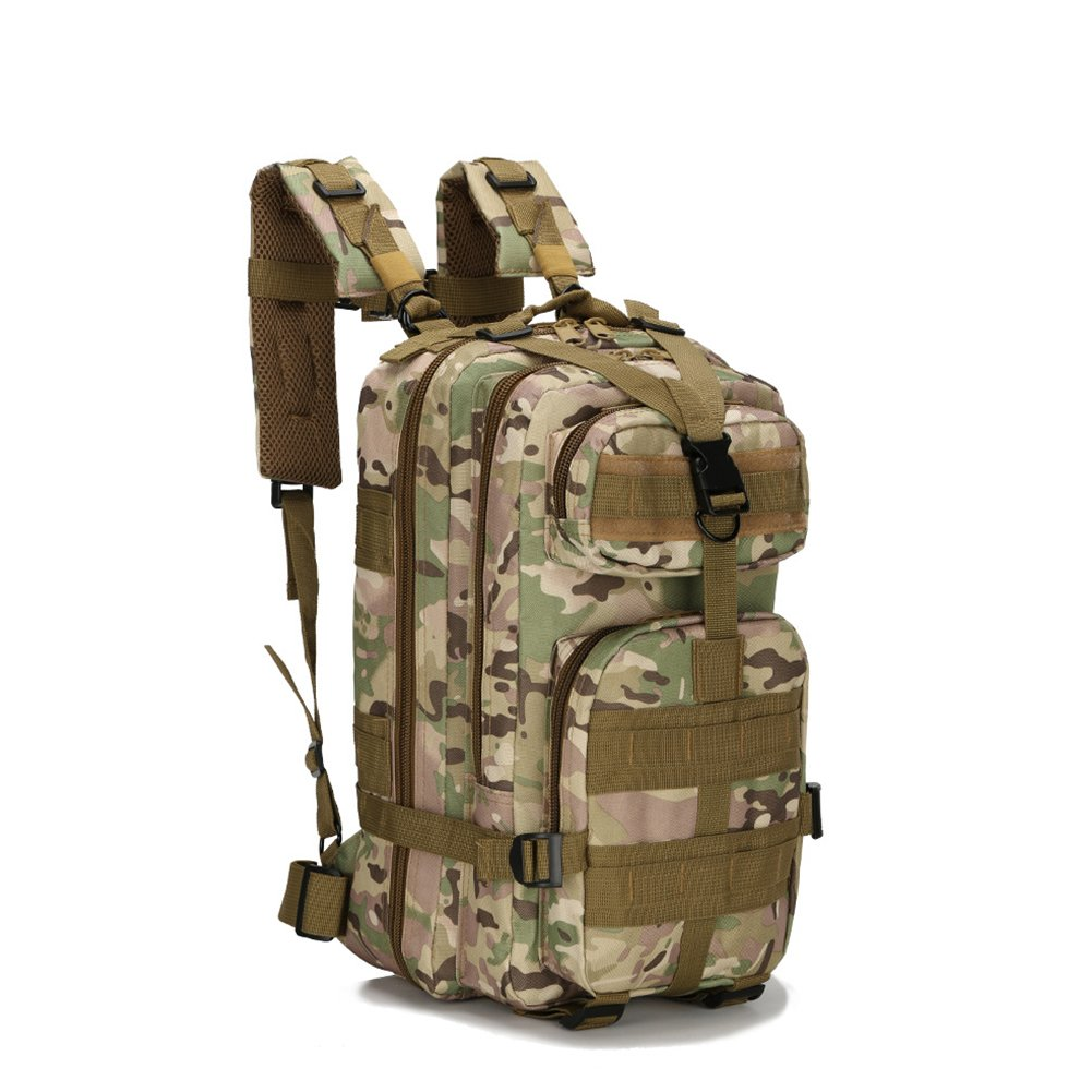 Gouptec 25L Army 3 Day Pack 3P Assaut Tactical Backpack Molle military bag Camping Hiking Trekking Camouflage Bagpack Men Women Outdoor Travel mochilas ...