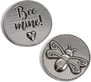 product image for Crosby & Taylor Bee Mine with Heart Lead-Free American Pewter Sentiment Coin
