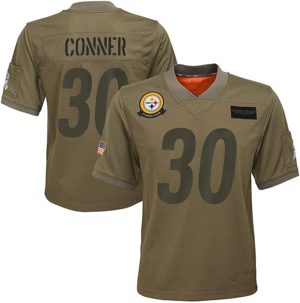 cjbaok Camiseta de la NFL Pittsburgh Steelers # 90# 7# 30# 19 ...