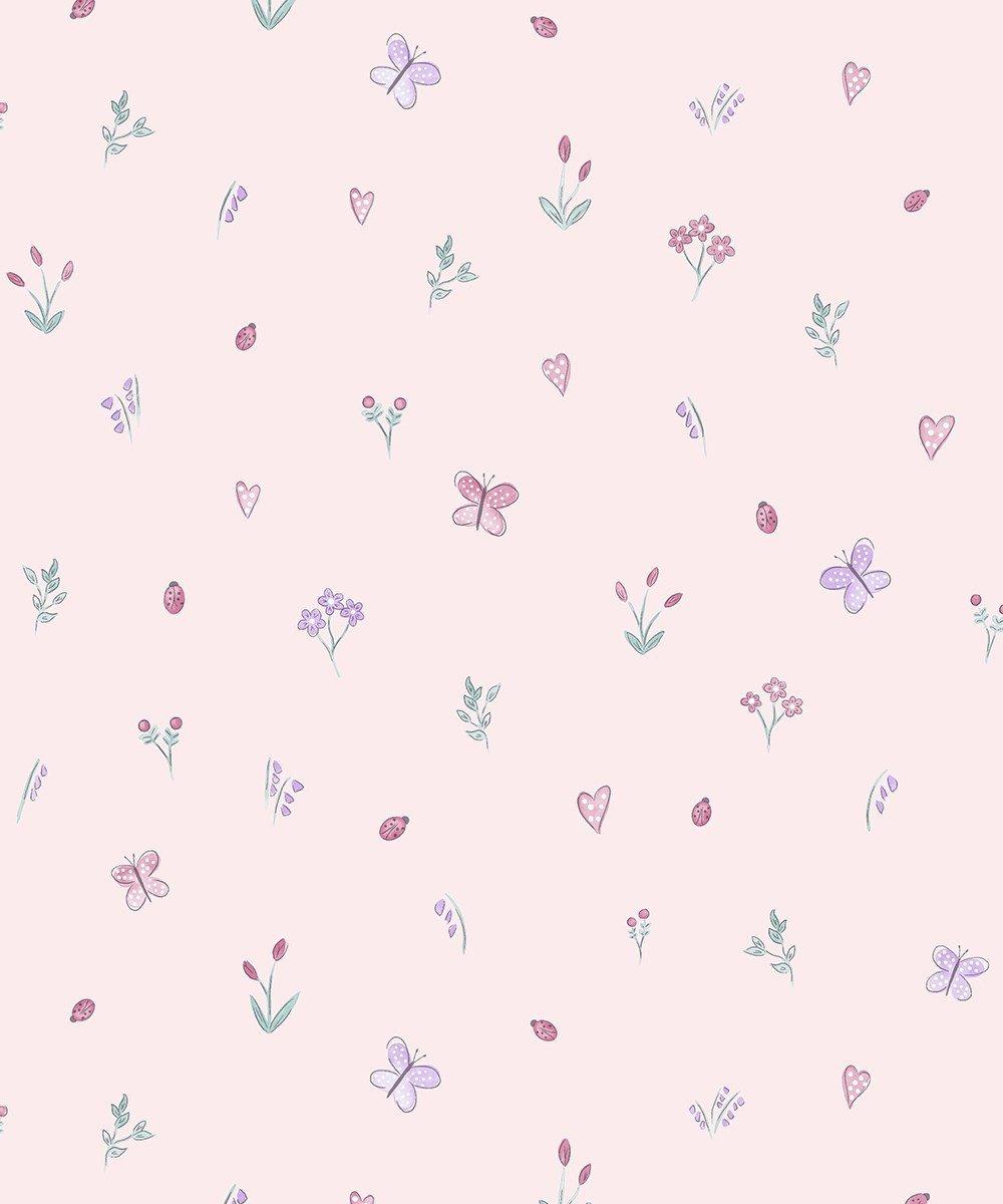 Cream /& Heather Designer Butterfly  Wallpaper by Holden Decor