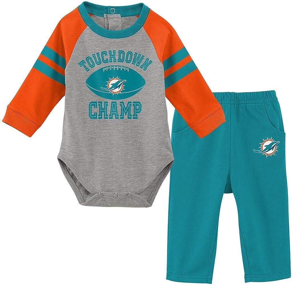 OuterStuff NFL Newborn Infants Touchdown Long Sleeve Creeper and Pant Set
