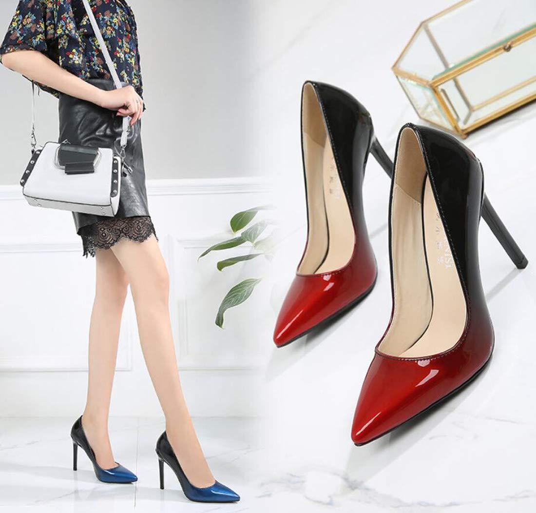 ZXMXY Damen High Heels Stiletto Heel Farbverlauf Schuhe professionelle Farbverlauf Heel große Größe Schuhe Sandalen im Freien 8c8e52
