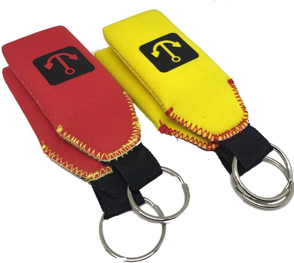 GoudaTech 2X Floating Neoprene Keychain Key Chain Floats 2-3 Keys
