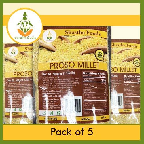 Shastha Proso Millet (Pack of 5) Each 500 Gms (T-B)