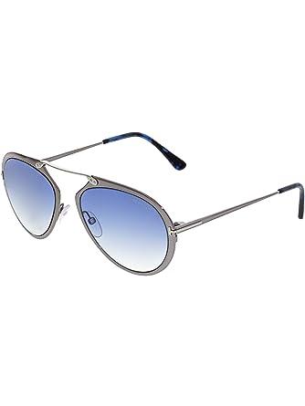 2eaaeefb3e4 Sunglasses Tom Ford DASHEL TF 508 FT 12W shiny dark ruthenium   gradient  blue at Amazon Women s Clothing store