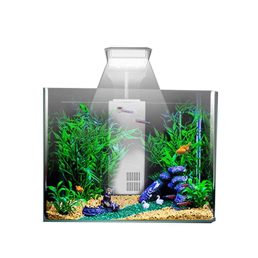 El Acuario De Cristal LED Táctil Llevó El Tanque De Pescados Ligero del Marco El Pequeño Tanque De Pescados Ecológico del Paisaje: Amazon.es: Hogar