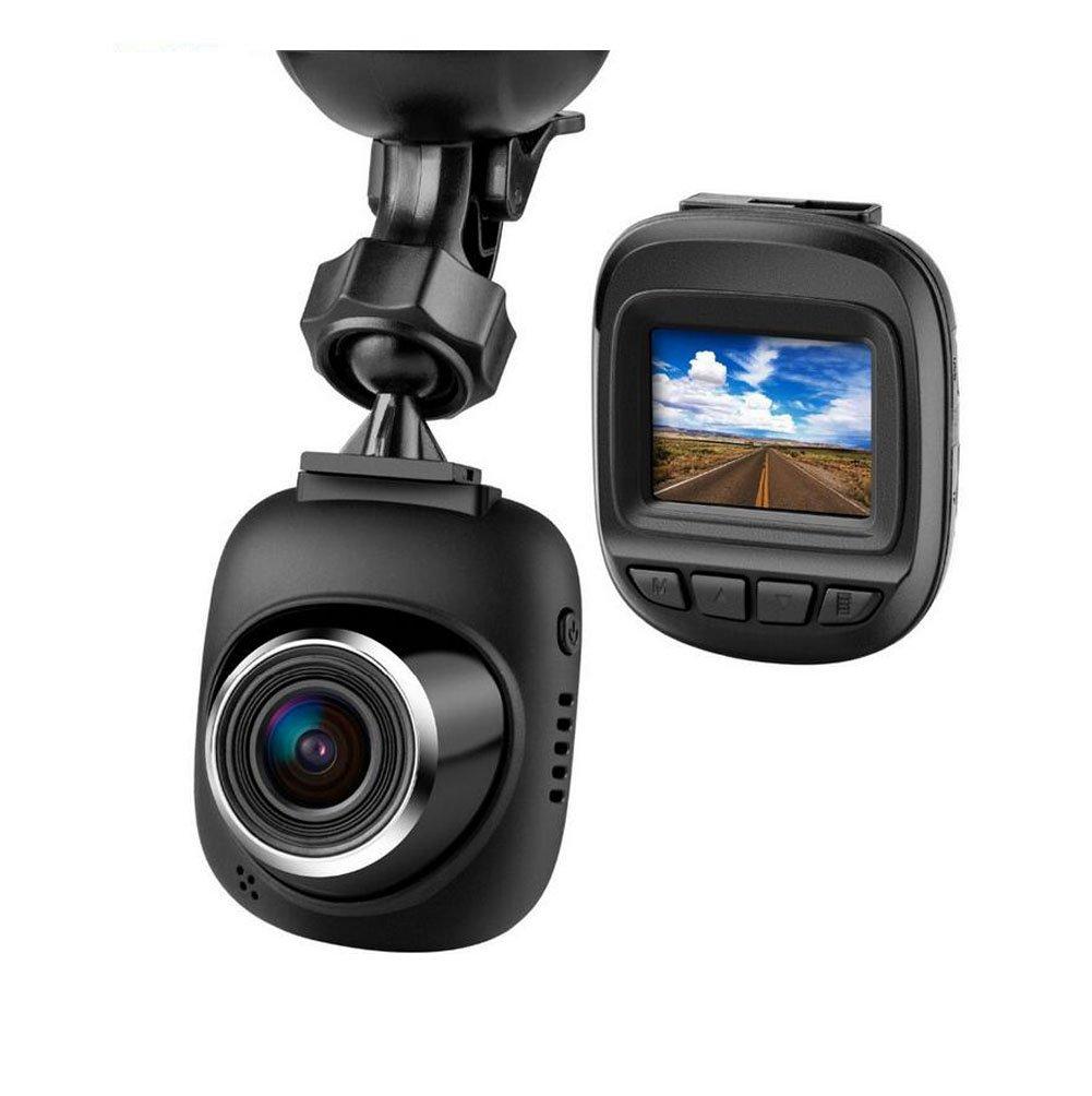 Sokache Mini Voiture Dash Cam Full HD 1080 P Caméra Avec 170 ° Grand Angle G-Capteur Loop Enregistrement Détection De Mouvement Moniteur De Parc, Black, 56Mm YAYA
