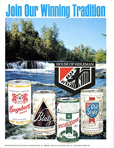House of Heileman Beers Vintage Magazine Ad-