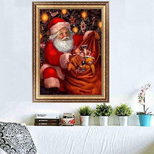 Doober 5d DIYダイヤモンド絵画クリスマスサンタクロースクロスステッチキットホームウォールデコレーション
