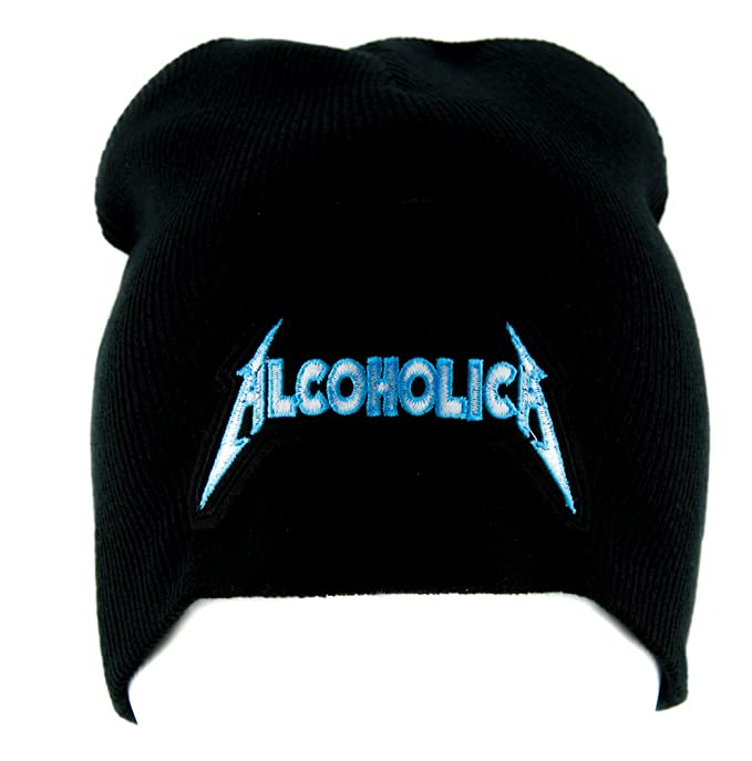 3b402996f8d Amazon.com  Alcoholica Metallica Spoof Beanie Alternative Clothing ...