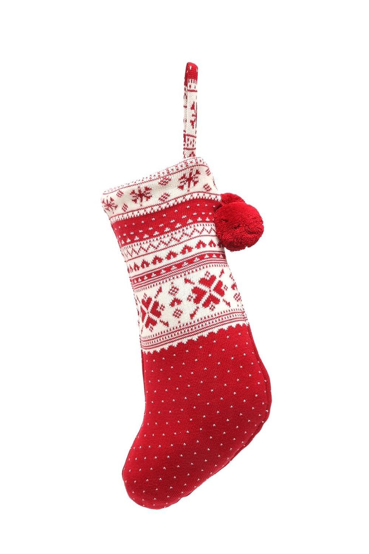 Nikolausstrumpf 100/% Baumwolle Beutel zum selbst Bef/üllen Casalanas Weihnachtsstrumpf 46x26 cm Nikolausstiefel Kerstmis