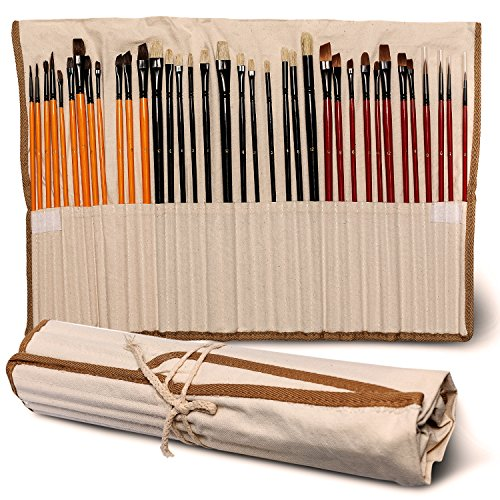 paint-brush-set-36-pieces-limited-offer-buy-1-get-1-professional-quality-no-shed-bristles-great-gift