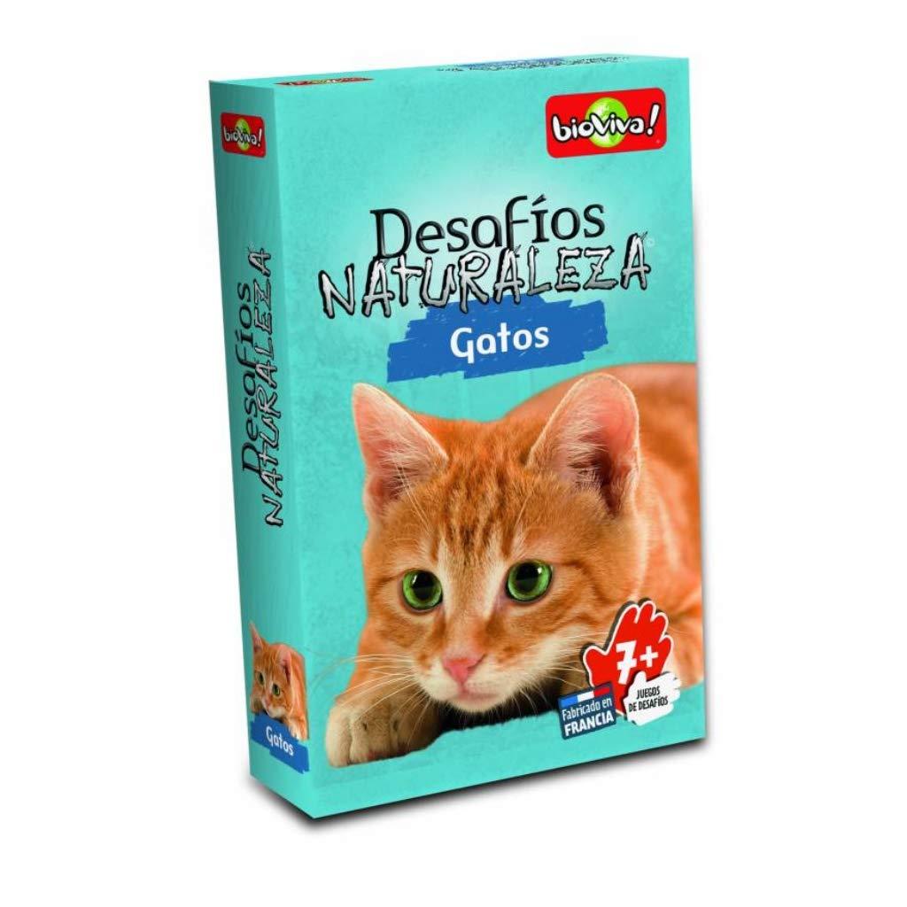 DES13ES Juego de Cartas Desaf/íos Naturaleza Gatos Color Asmodee