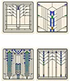 CoasterStone AS10188 Ennis House Windows Coaster Set, Multicolor
