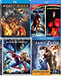 Marvel 5-Movie Bundle - Marvel Knights Iron Man Extremis & Spider-Woman Ghost RideR: Spirit of Vengeance, The Amazing Spider-Man 2 (3D/Blu-ray/DVD/Digital) & Fantastic 4 (Exclusive) Blu-ray Bundle