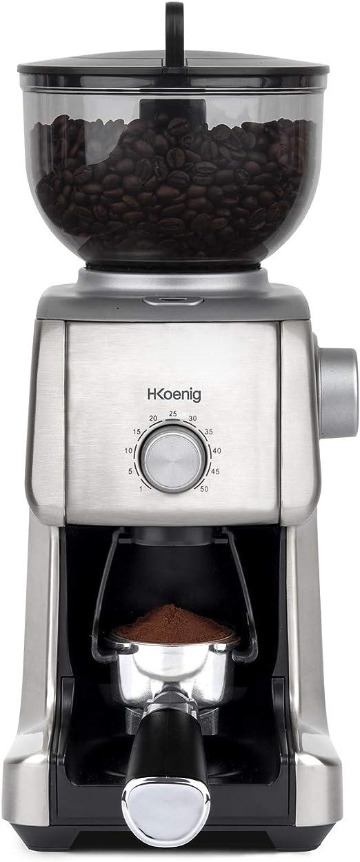 H.Koenig GRD830 - Molinillo de Café Eléctrico Profesional, 16 ...