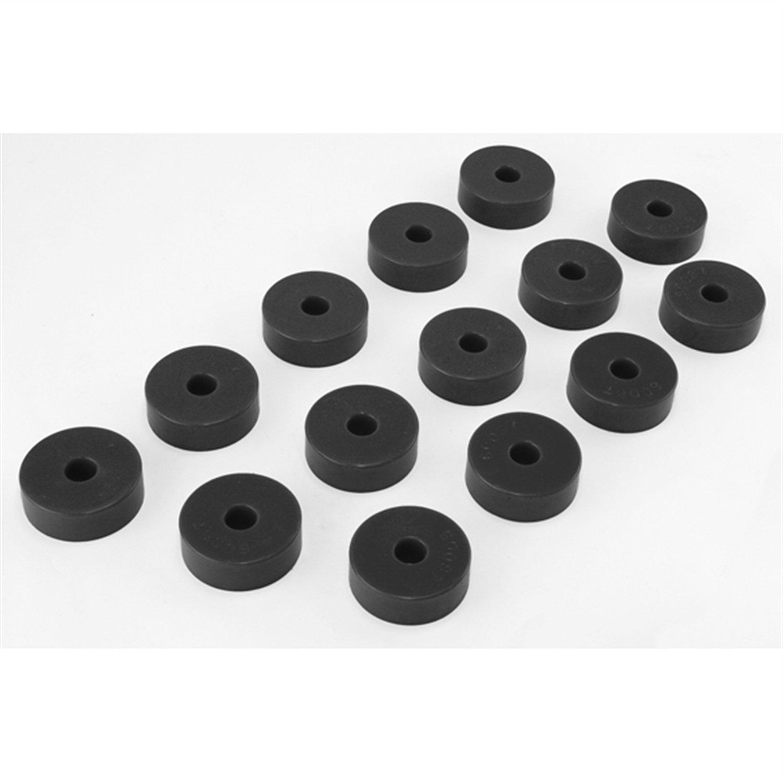 Prothane 1-101-BL Black Body Mount Bushing Kit for CJ5, CJ7, CJ8, YJ and TJ - 14 Piece