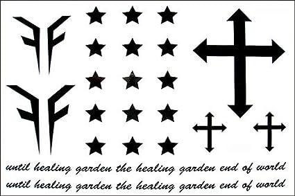 Moda masculina y femenina falsos tatuajes estancas estrella cruz ...