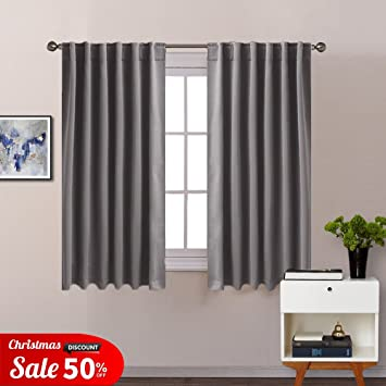 Grey Blackout Curtains Window Treatment