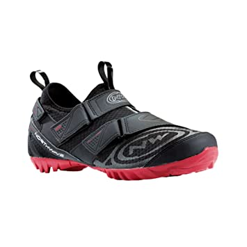 Amazon.com: Northwave 2015 Mens Multi App Indoor Cycling Shoe - 80133007-15 (Black/Red - 37): Sports & Outdoors