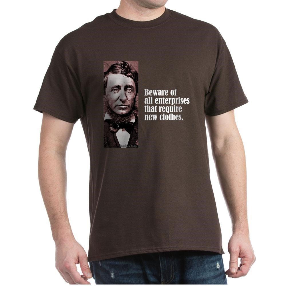 Thoreau Beware 100 T Shirt Brown
