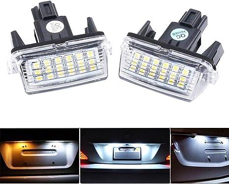 2x 12V 3LED Voiture universelle moto plaque dimmatriculation plaque de vis /à vis lampe lampe blanche LED Lumi/ère de plaque dimmatriculation Bleu