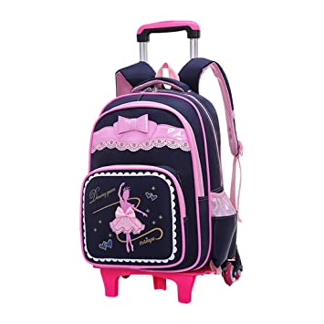 Amazon.com | Teen Girls Kids School Bags Backpack Trolley Shoulder Bag Carry on Luggage BESBOMIG | Kids Backpacks