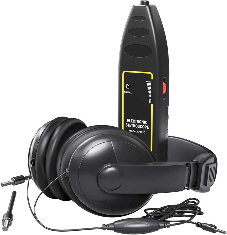 Estetoscopio electrónico, buscador de ruido de coche con auriculares - Detección rápida de sonda de alta sensibilidad - para diagnóstico de sonido de cilindros de maquinaria de camiones de automóviles