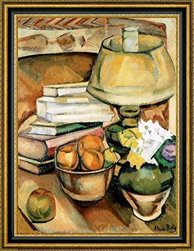 Still Life Lamp, Books and Fruit by Alice Bailly - 16