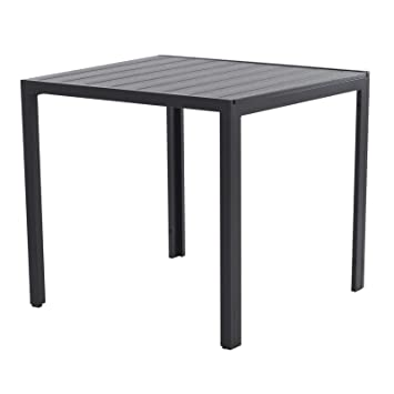 colourliving Table de Jardin en Aluminium Imitation Bois ...