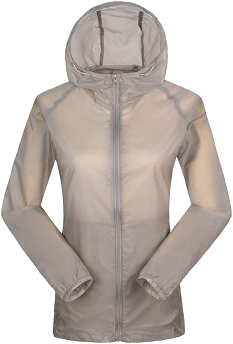 Women Ultra Thin UV Protection Sunscreen for Summer Season Transparent Jacket Gray
