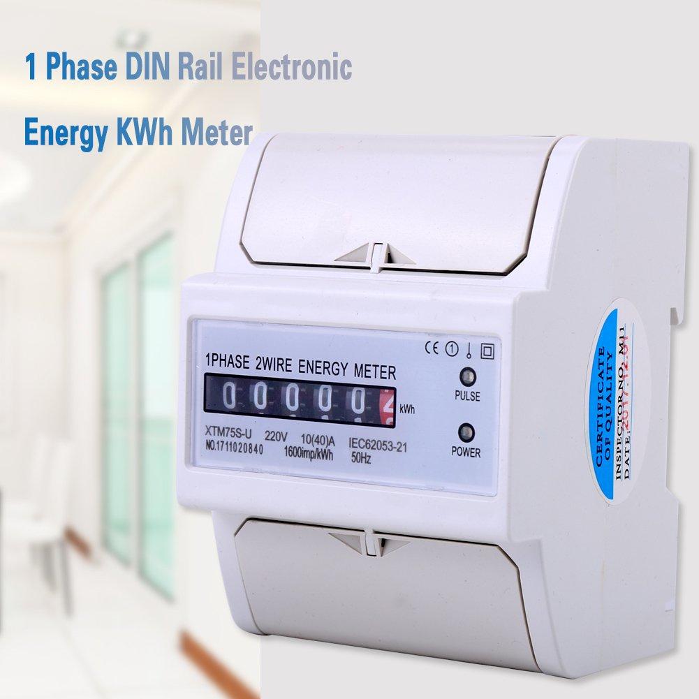 Xtm75s U Energy Meter Digital Lcd Single Phase 2 Wire Kwh Din Wiring Diagram Rail Electric 1040a Diy Tools