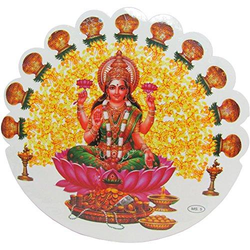 shri-lakshmi-hindu-goddess-of-wealth-yoga-meditation-art-decal-sticker