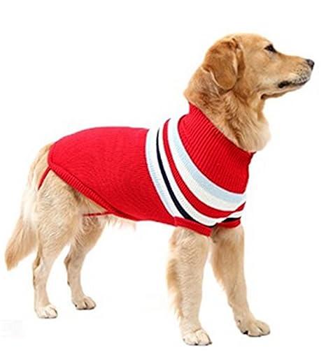 SHUNLIU Ropa para Perro Jersey de Mascota de Navidad Mascota Suéter de Punto Invierno