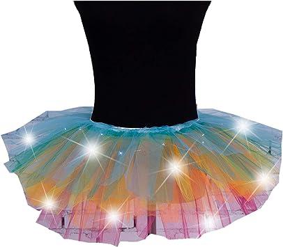 Tutus - Falda de ballet para mujer, 5 capas, tutú, esponjosa, varios ...
