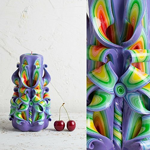 Handmade Carved Candle – Unique Housewarming Luxury Gift Ideas Shop – Bougies Paraffine – EveCandles