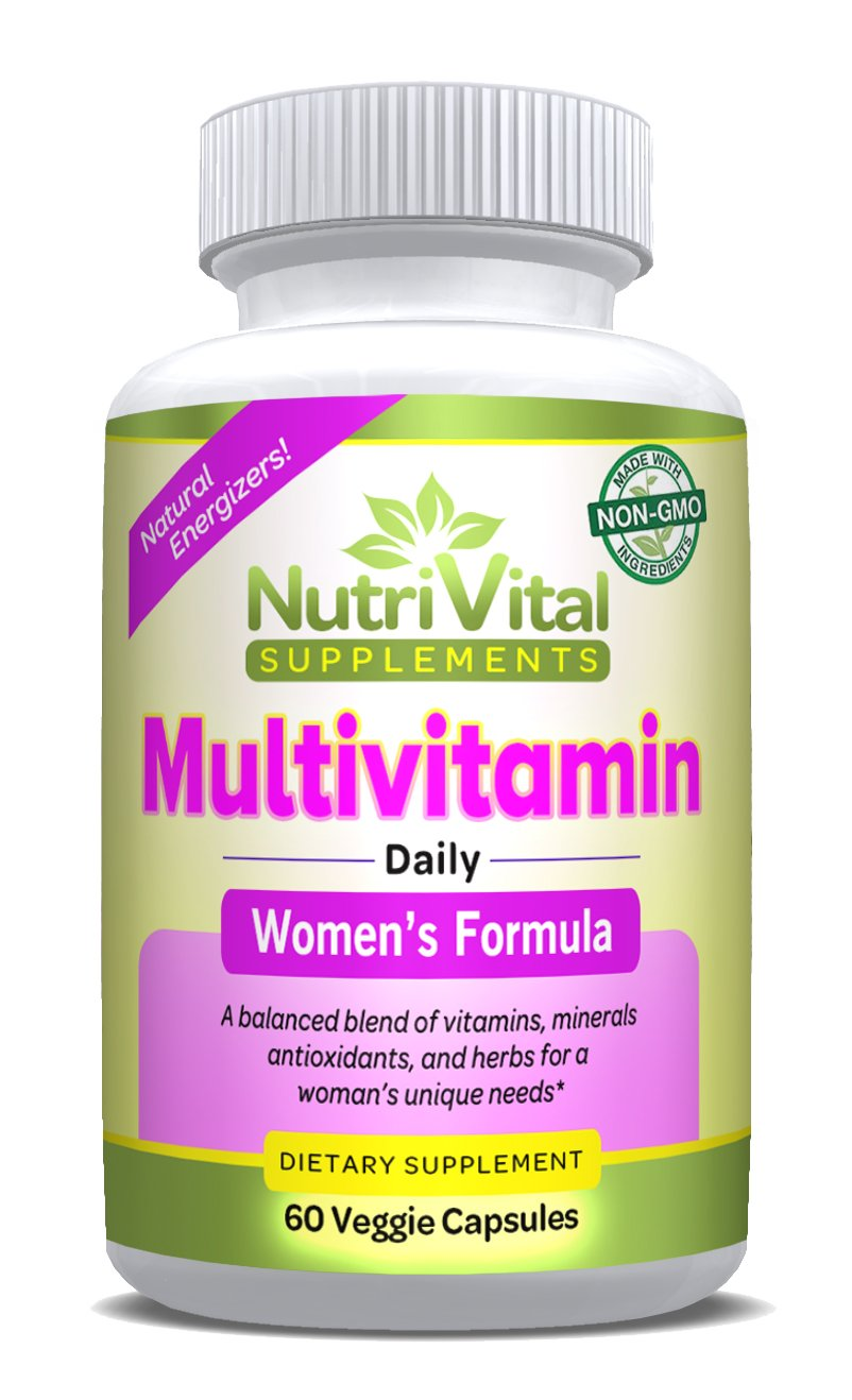 Multivitamin for Women by NutriVital Supplements, With Essential Vitamins, Minerals, Antioxidants, and Herbs for a Woman's Daily Needs, Made in the USA, FDA Registered Facility, Non GMO, 60 Capsules