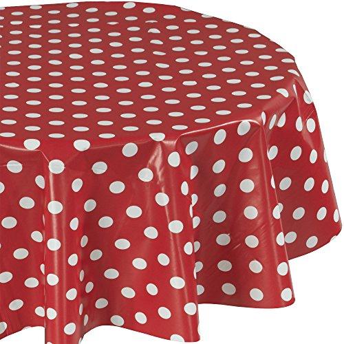 Ottomanson Vinyl Red Polka Dot Design 55