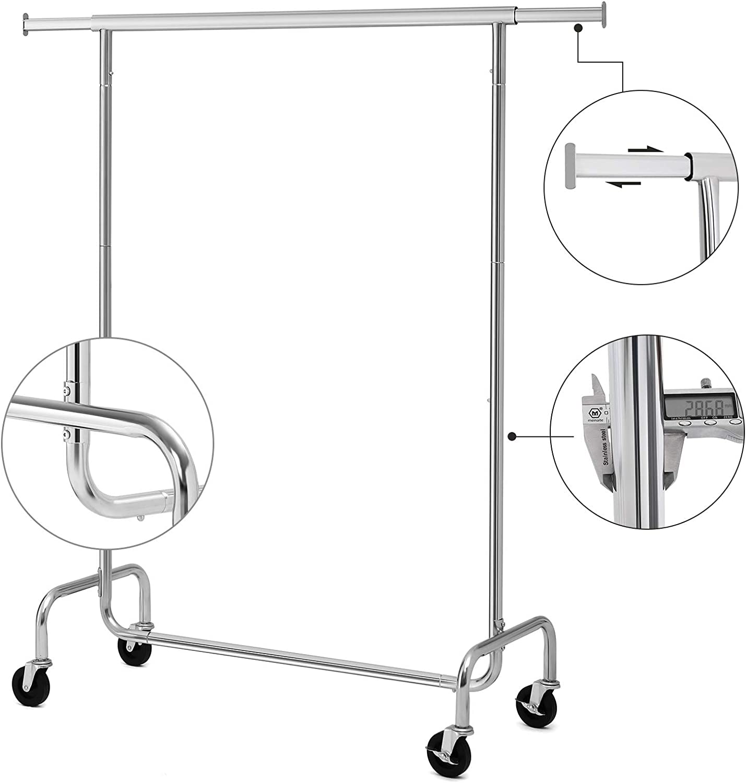 Rollständer Garderobenständer Kleiderständer Wäscheständer Roll 6F Metall NI
