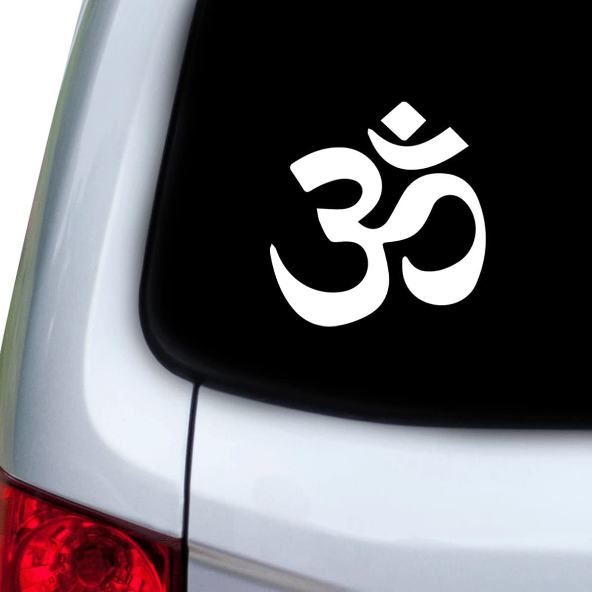 White Doors StickAny Car and Auto Decal Series Om Zen Logo Sticker for Windows Hoods