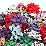 120-Count Gift Wrap Bows - Pull Bows, Gift Ribbons - Includes Large, Medium, Small Sizes, Peel and Stick, Assorted Glittering Colors