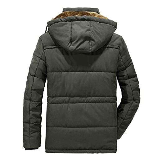 Londony ♥‿♥ Mens Thickened Down Jacket Outwear Mountain Waterproof Ski Coat Windproof Rain Jacket at Amazon Mens Clothing store: